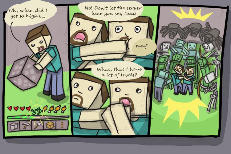Khadia's Minecraft Comics - Levels