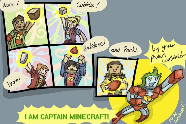 Khadia's Minecraft Comics - Captain Minecraft