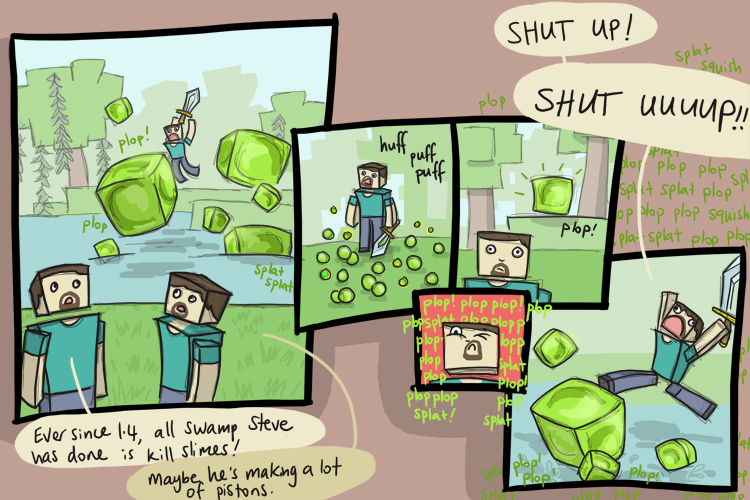 Khadia's Minecraft Comics - Make It Stop